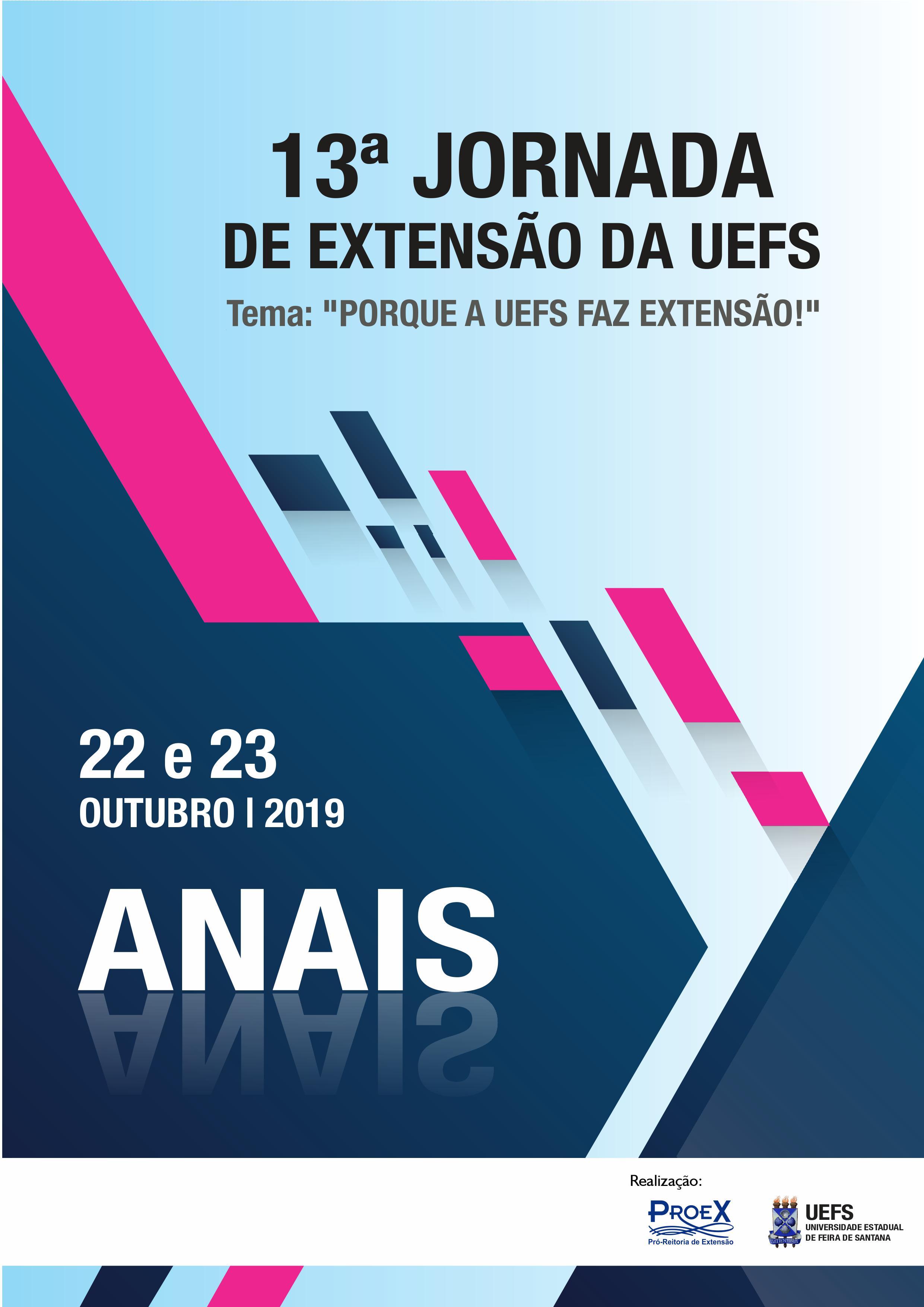 Visualizar v. 1 n. 1 (2019): Anais da Jornada de Extensão da UEFS